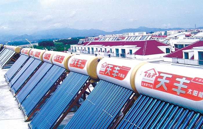 紧凑式太阳能热水器案例