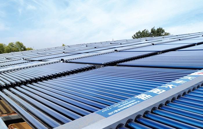 集中集热集中供热太阳能热水器案例