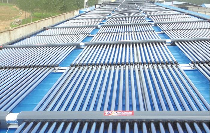 集中集热集中供热热水器案例
