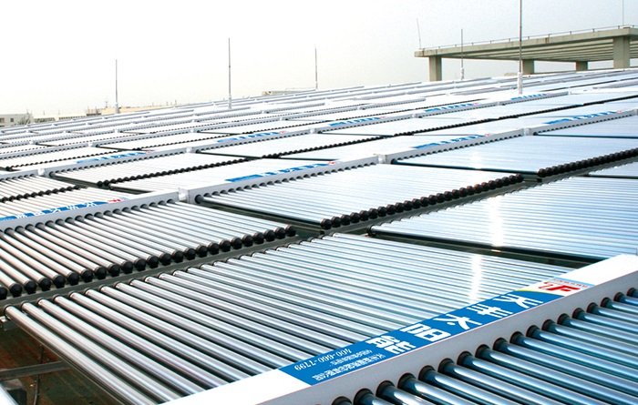 集中集热分户供热太阳能案例