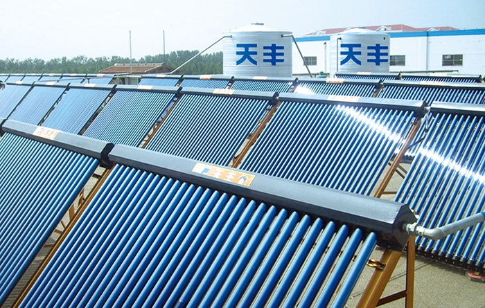 集中集热分户供热商用太阳能案例